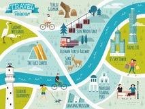 Χάρτης ταξιδιού της Ταϊβάν διανυσματική απεικόνιση