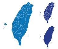 χάρτης Ταϊβάν απεικόνιση αποθεμάτων