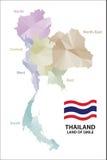 χάρτης Ταϊλάνδη Στοκ Εικόνες