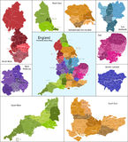 χάρτης της Αγγλίας διανυσματική απεικόνιση