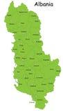 Χάρτης της Αλβανίας διανυσματική απεικόνιση