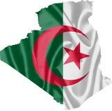 Χάρτης της Αλγερίας με τη σημαία διανυσματική απεικόνιση