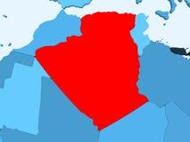 χάρτης της Αλγερίας απεικόνιση αποθεμάτων