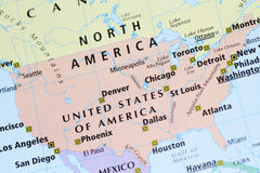 χάρτης της Αμερικής Στοκ φωτογραφίες με δικαίωμα ελεύθερης χρήσης