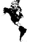 χάρτης της Αμερικής διανυσματική απεικόνιση