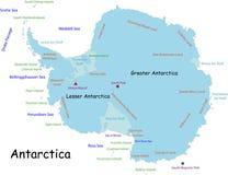 Χάρτης της Ανταρκτικής Στοκ εικόνες με δικαίωμα ελεύθερης χρήσης
