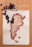 χάρτης της Αργεντινής Στοκ φωτογραφίες με δικαίωμα ελεύθερης χρήσης