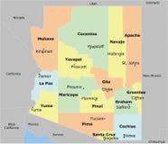 Χάρτης της Αριζόνα διανυσματική απεικόνιση