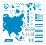 Χάρτης της Ασίας και infographic στοιχεία Στοκ εικόνα με δικαίωμα ελεύθερης χρήσης