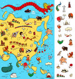 Χάρτης της Ασίας: Μεγάλο οπτικό παιχνίδι Εντοπίστε τα απομονωμένα στοιχεία σε έναν χάρτη απεικόνιση αποθεμάτων