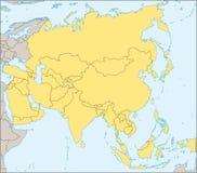 χάρτης της Ασίας πολιτικό&sig Στοκ εικόνα με δικαίωμα ελεύθερης χρήσης
