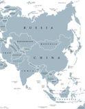 χάρτης της Ασίας πολιτικό&sig ελεύθερη απεικόνιση δικαιώματος