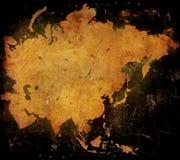 χάρτης της Ασίας Στοκ Εικόνα
