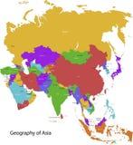 Χάρτης της Ασίας διανυσματική απεικόνιση
