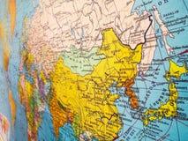 Χάρτης της Ασίας Στοκ φωτογραφίες με δικαίωμα ελεύθερης χρήσης