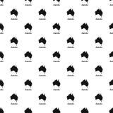 Χάρτης της Αυστραλίας μαύρο σε απλό απεικόνιση αποθεμάτων