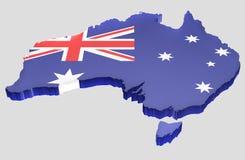χάρτης της Αυστραλίας Στοκ Φωτογραφία