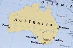 χάρτης της Αυστραλίας Στοκ Εικόνα