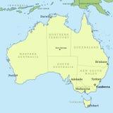 Χάρτης της Αυστραλίας Στοκ φωτογραφίες με δικαίωμα ελεύθερης χρήσης