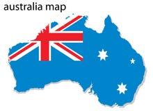 χάρτης της Αυστραλίας Στοκ φωτογραφία με δικαίωμα ελεύθερης χρήσης