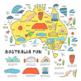 χάρτης της Αυστραλίας Στοκ εικόνες με δικαίωμα ελεύθερης χρήσης