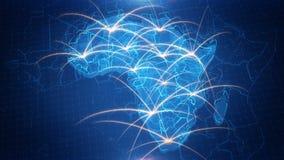 Χάρτης της Αφρικής με το ζωντανεψοντα υπόβαθρο ελεύθερη απεικόνιση δικαιώματος