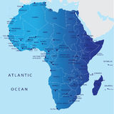 χάρτης της Αφρικής πολιτι&ka Στοκ εικόνα με δικαίωμα ελεύθερης χρήσης