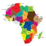χάρτης της Αφρικής Στοκ φωτογραφίες με δικαίωμα ελεύθερης χρήσης