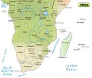 Χάρτης της Αφρικής Στοκ Εικόνες