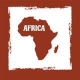 χάρτης της Αφρικής Στοκ εικόνα με δικαίωμα ελεύθερης χρήσης
