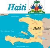 χάρτης της Αϊτής Στοκ Εικόνες
