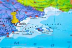 Χάρτης της Βαλένθια Ισπανία Στοκ Φωτογραφίες