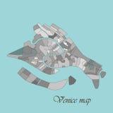 Χάρτης της Βενετίας διανυσματική απεικόνιση