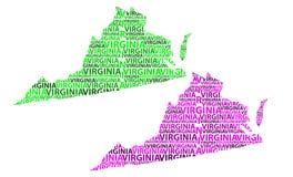 Χάρτης της Βιρτζίνια - διανυσματική απεικόνιση Ελεύθερη απεικόνιση δικαιώματος