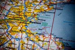 χάρτης της Βοστώνης Στοκ εικόνα με δικαίωμα ελεύθερης χρήσης