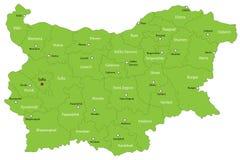 Χάρτης της Βουλγαρίας διανυσματική απεικόνιση
