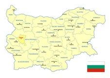 Χάρτης της Βουλγαρίας Στοκ Εικόνες