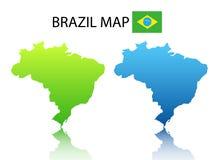 χάρτης της Βραζιλίας Στοκ Εικόνα