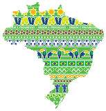 Χάρτης της Βραζιλίας με τα εικονίδια απεικόνιση αποθεμάτων