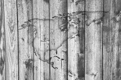 Χάρτης της Βόρειας Αμερικής στο ξεπερασμένο ξύλο Στοκ Εικόνες