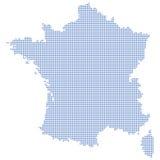 χάρτης της Γαλλίας σημείω& ελεύθερη απεικόνιση δικαιώματος