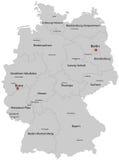 Χάρτης της Γερμανίας απεικόνιση αποθεμάτων