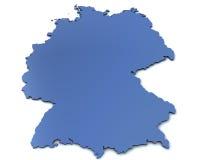 χάρτης της Γερμανίας Στοκ εικόνες με δικαίωμα ελεύθερης χρήσης