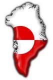 χάρτης της Γροιλανδίας σημαιών κουμπιών SH Στοκ Εικόνες