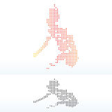 Χάρτης της Δημοκρατίας οι Φιλιππίνες με το σχέδιο σημείων Στοκ φωτογραφία με δικαίωμα ελεύθερης χρήσης
