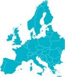 χάρτης της ΕΕ Στοκ Εικόνες
