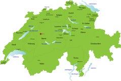 Χάρτης της Ελβετίας, Στοκ φωτογραφίες με δικαίωμα ελεύθερης χρήσης