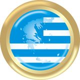 χάρτης της Ελλάδας σημαιώ&n Στοκ φωτογραφία με δικαίωμα ελεύθερης χρήσης