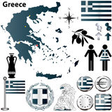 Χάρτης της Ελλάδας Στοκ Εικόνες