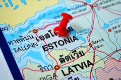 Χάρτης της Εσθονίας Στοκ φωτογραφία με δικαίωμα ελεύθερης χρήσης